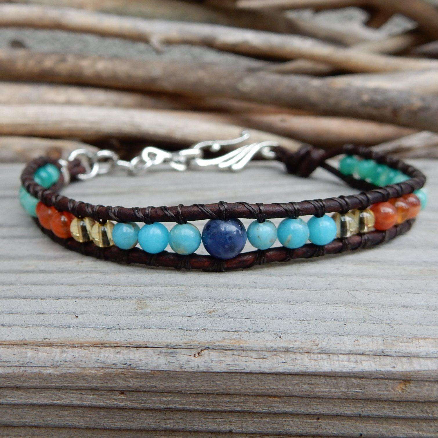 Anklet - Summer Beach Leather Wrap Anklet