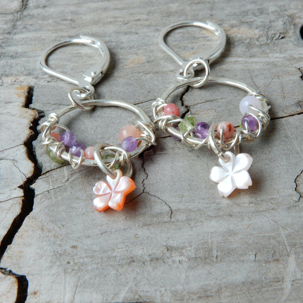 Earring - Sweet Spring Sakura Flower Hoop Earrings