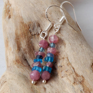 Earrings - Stacked Stone Stick Dangle Earrings | ZEN