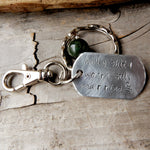 Funny Message Tag For Keychain