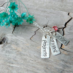Necklace - Personalized Silver And Gemstone Necklace