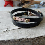 One Word Inspiration Bracelet | Leather And Copper Or Silver