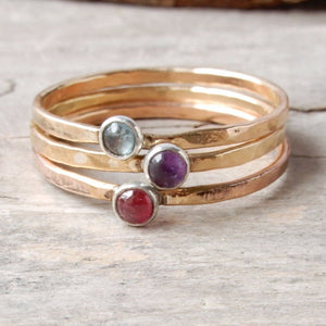 Ring - Gemstone Minimalist Stacking Ring