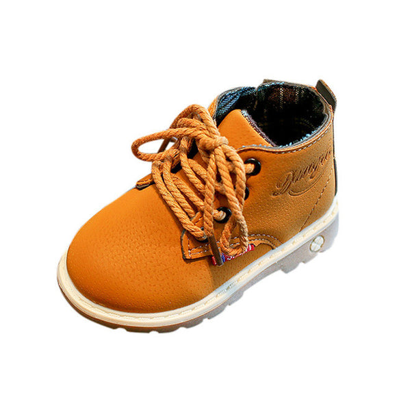 Camel Lace Up Work Boot
