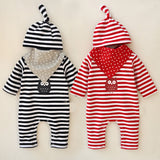 Stripe Owl Jumpsuit and Hat