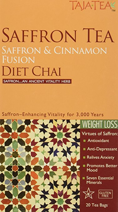 Taja Tea Saffron Cinnamon Diet Chai Tea