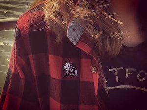 Little Wolf Plaid Shirt 🌲⛺️
