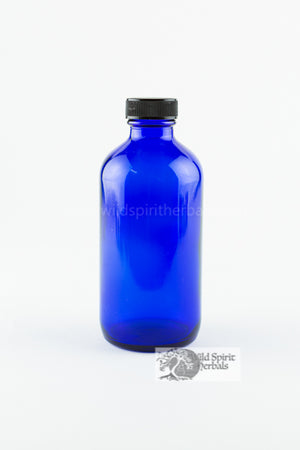 4 oz Cobalt Bottle w/ Lid