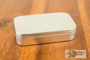Tin Rectangular w/ Hinged Lid