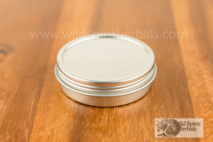 Flat 2 oz. Tin w/ Screw Top Lid