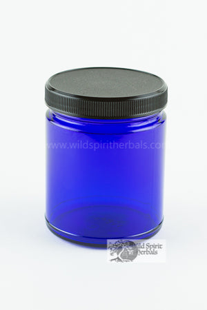 9 oz Cobalt Blue Jar with Lid