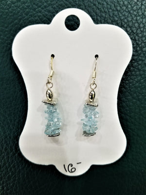 Blue Topaz Dangle Earrings