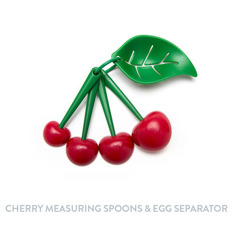 Cherry Measuring Spoons & Egg Separator