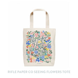 Rifle Paper Co Flowers Tote Bag