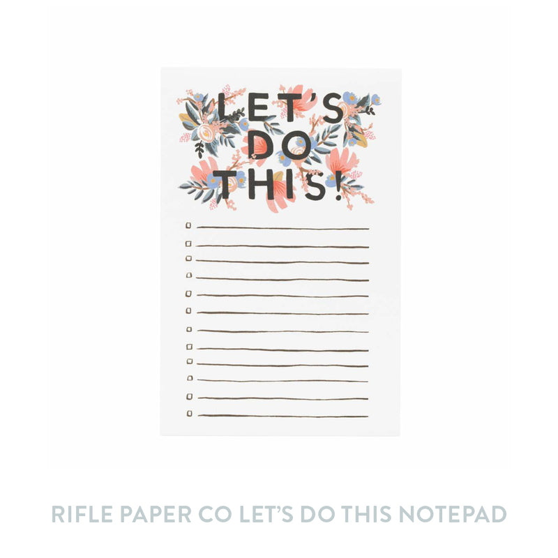 Rifle Paper Co Let's Do This Notepad