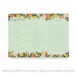 Rifle Paper Co Weekly Meal Planner - Citrus