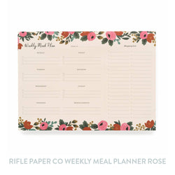 Rifle Paper Co Weekly Meal Planner - Rosa