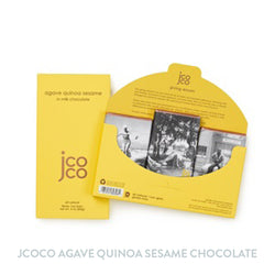 Jcoco 3oz Agave Quinoa Sesame Chocolate Bar