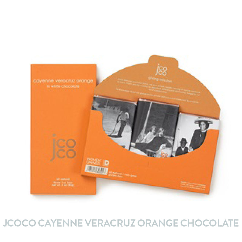 Jcoco 3oz Cayenne Veracruz Orange Chocolate Bar