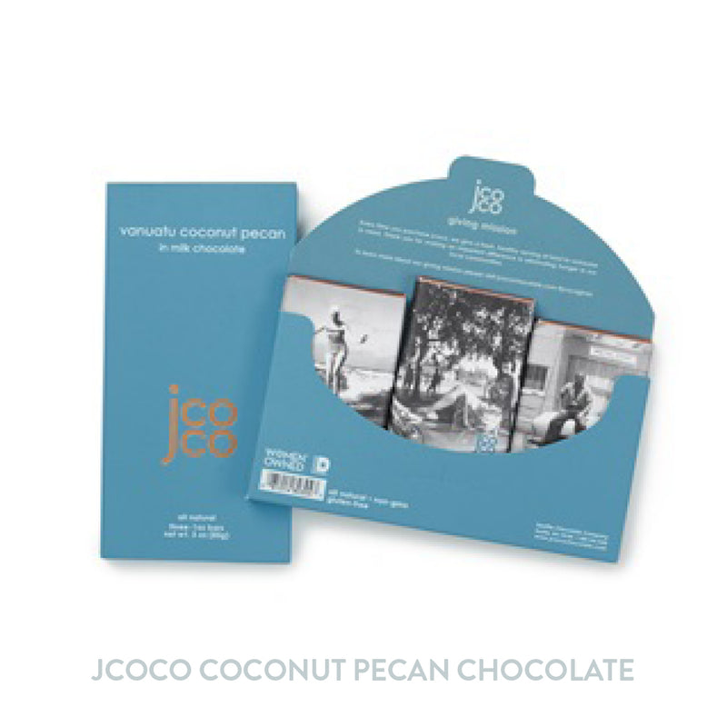 Jcoco 3oz Coconut Pecan Chocolate Bar