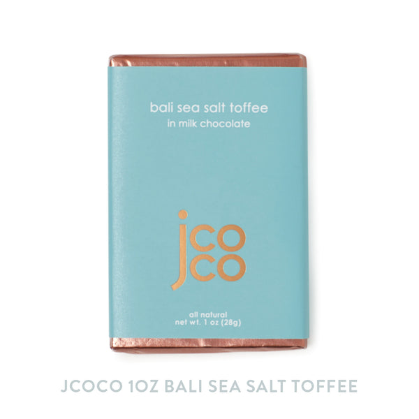 Jcoco 1oz Bali Sea Salt Toffee Chocolate Bar
