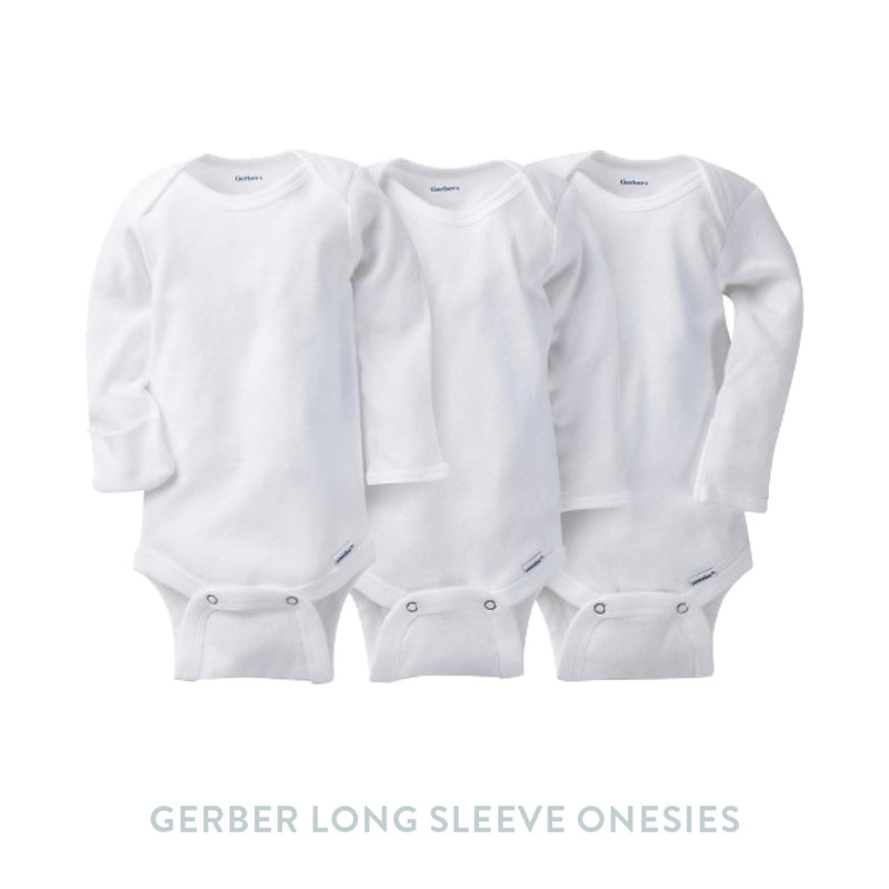 Gerber 3 pack Onesies with Mitten Cuffs