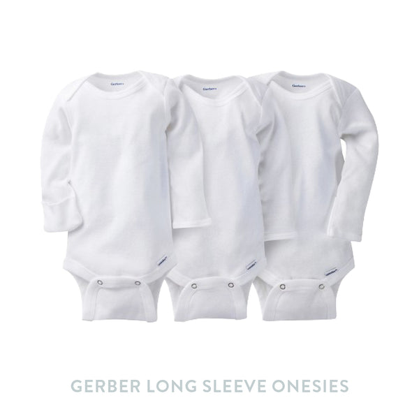 Gerber 3 pack Onesies with Mitten Cuffs - Organic
