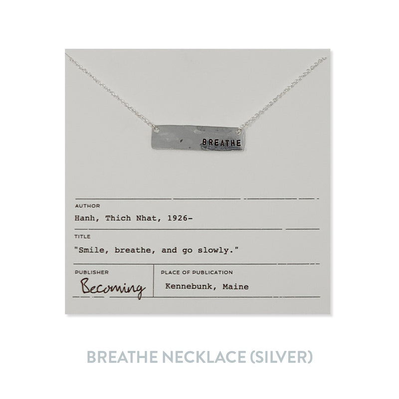 Breathe Necklace - Silver