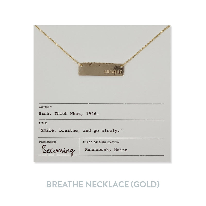 Breathe Necklace - Gold Fill