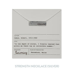 Strength Necklace - Silver