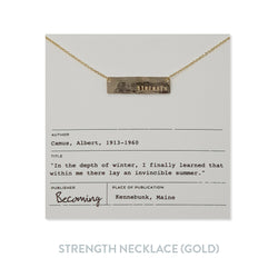 Strength Necklace - Gold Fill