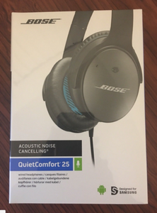 61f0bc62e5b Bose QuietComfort QC 25 Android Noise Cancelling Headphones Black/White  Wired
