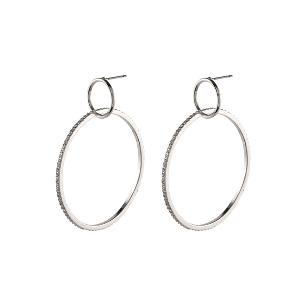 Pilgrim Silver Fire Hoop Earrings