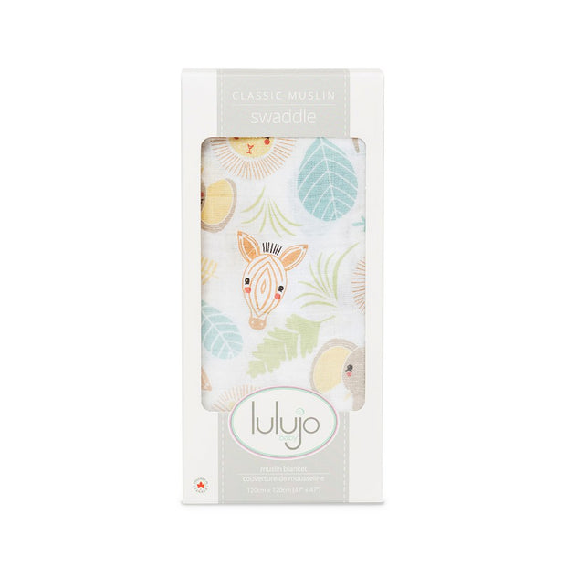 Lulujo Jungle Swaddling Blanket