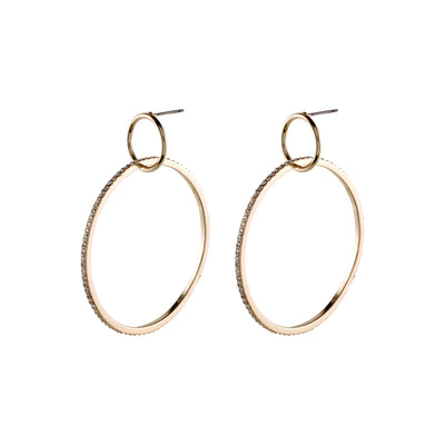 Pilgrim Gold Fire Hoop Earrings