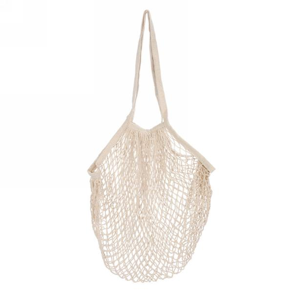 Cream Net Market Bag