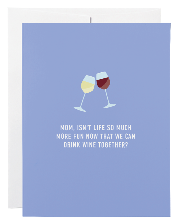 Mom Wine Together Greeting Card