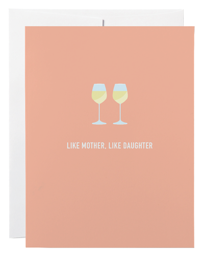 Like Mother, Like Daughter Greeting Card