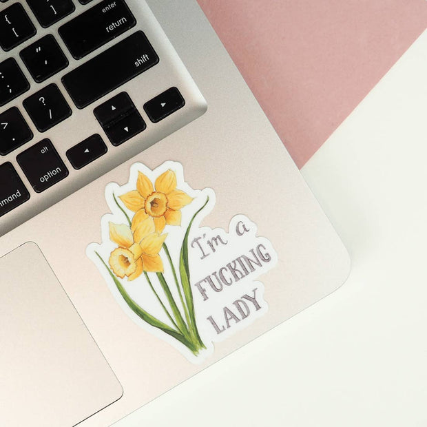 I'm A Lady Vinyl Sticker