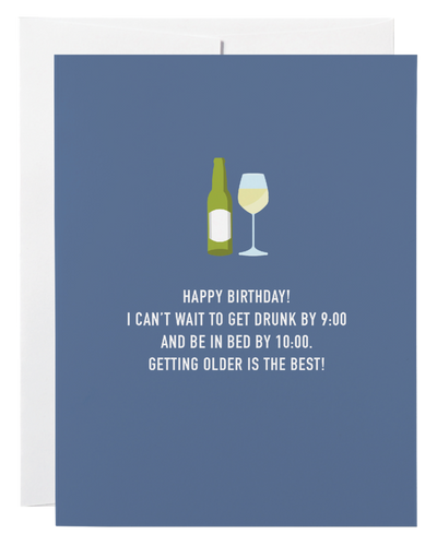 DRUNK BY NINE-BIRTHDAY CARD