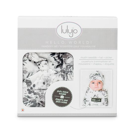 Lulujo Newborn Set-Black Floral