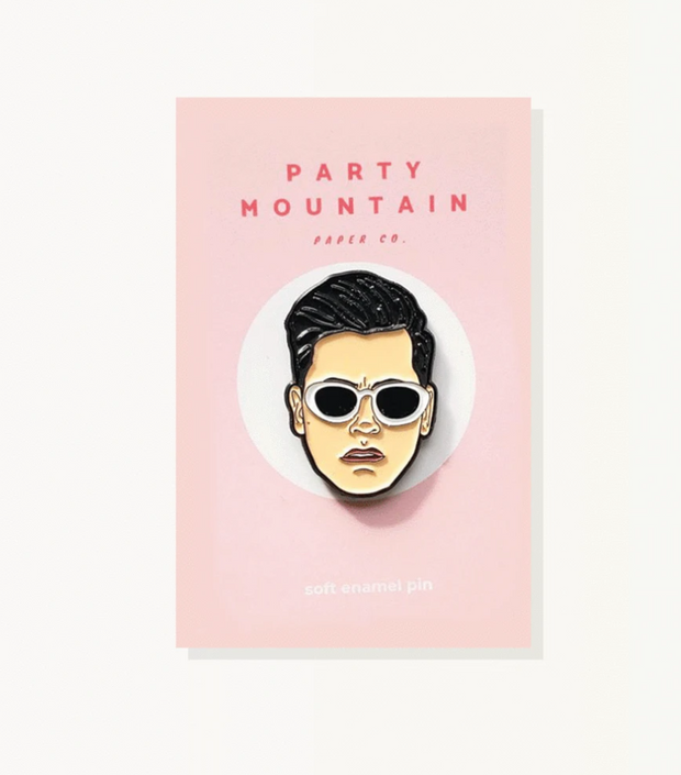 David Rose Enamel Pin