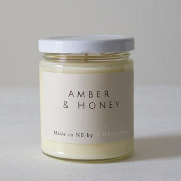 A White Nest Amber + Honey Candle