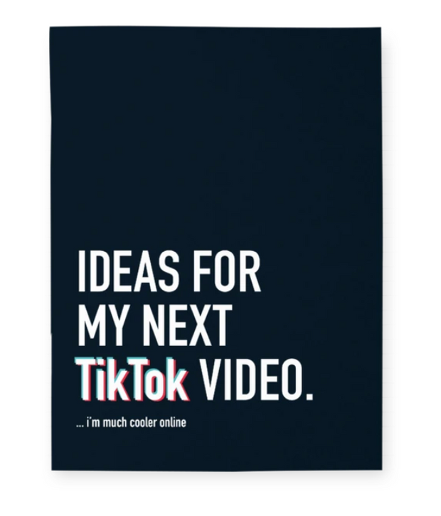 Ideas for my next Tiktok video Notebook