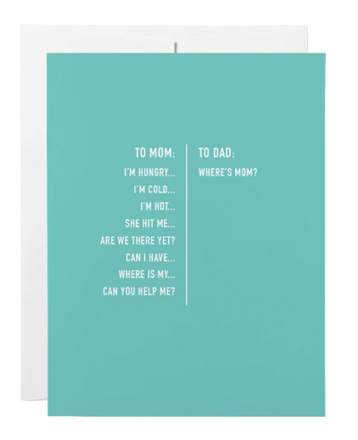 To Mom To Dad Greeting Card