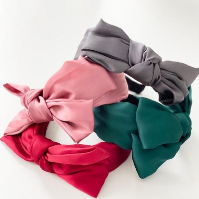Satin Side Bow Headband