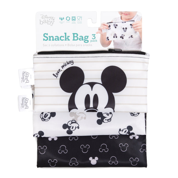 Disney Reusable Snack Bag 3pk Mickey Mouse