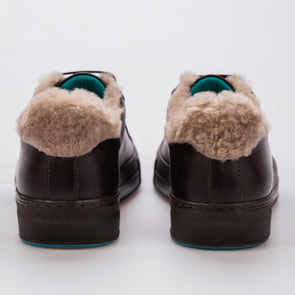 Nikki – Leather & Fur Brown - BUB Leather Shoes