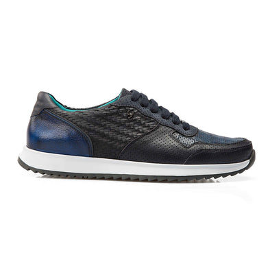 Roger - Dark Blue - Calf Leather Runner - BUB Leather Shoes