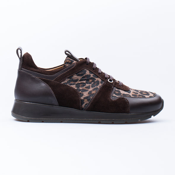 Lisa - Brown Leopard - Leather & Calf Hair - BUB Leather Shoes